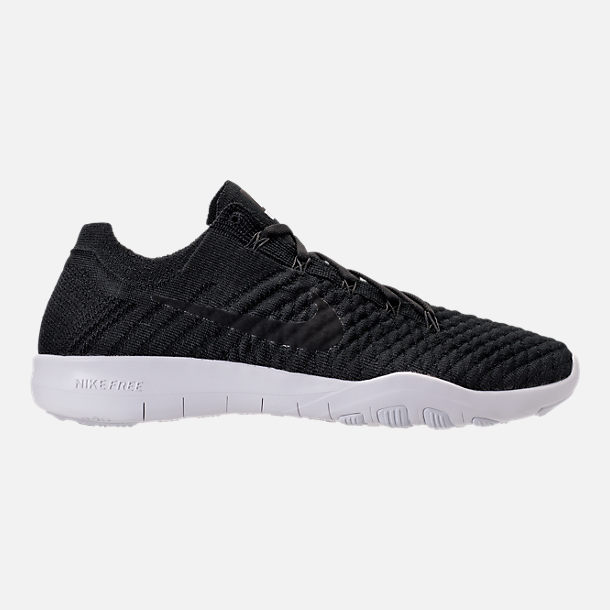 Right view of Women's Nike Free TR Flyknit 2 Training Shoes in Black/Black/