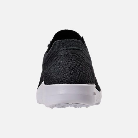 Back view of Women's Nike Free TR Flyknit 2 Training Shoes in Black/Black/White