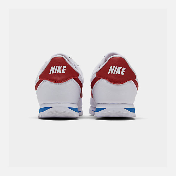 Left view of Boys' Big Kids' Nike Cortez Basic SL Casual Shoes in White/Varsity Red/Varsity Royal