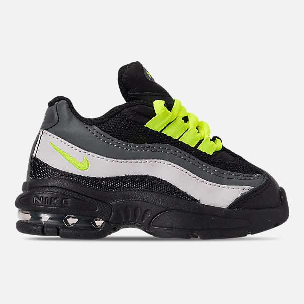 778b5a932a26 Right view of Kids  Toddler Nike Air Max 95 Casual Shoes in Black Volt