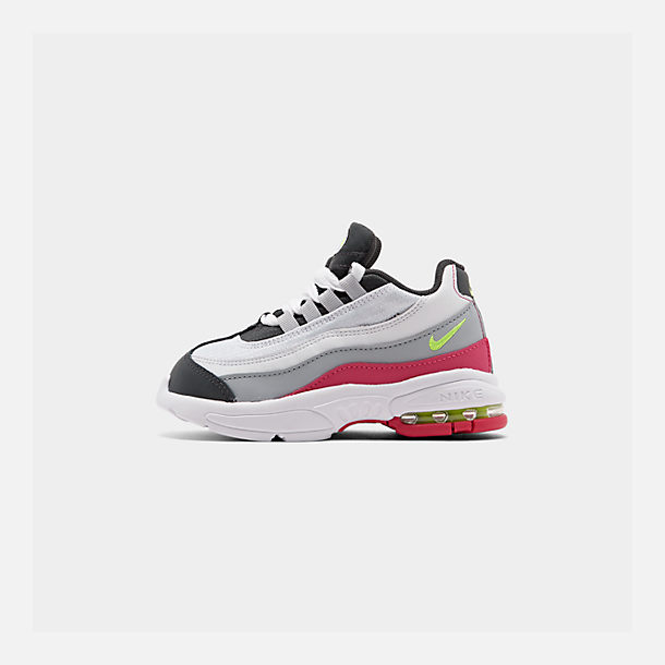 5dc8839d909263 Right view of Kids  Toddler Nike Air Max 95 Casual Shoes in Anthracite Volt