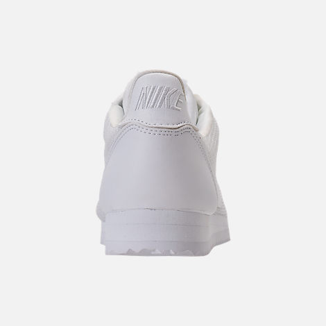 Back view of Women's Nike Classic Cortez Premium Casual Shoes in White/White