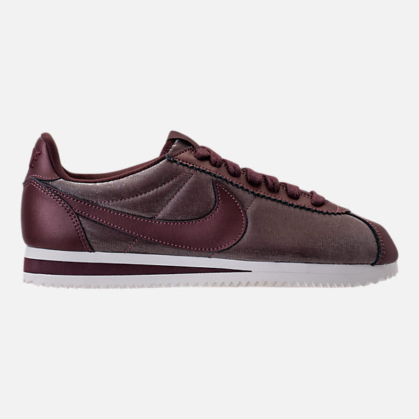 Right view of Women's Nike Classic Cortez Premium Casual Shoes in Metallic Magogany/Mahogany