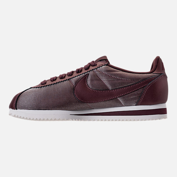 Left view of Women's Nike Classic Cortez Premium Casual Shoes in Metallic Magogany/Mahogany