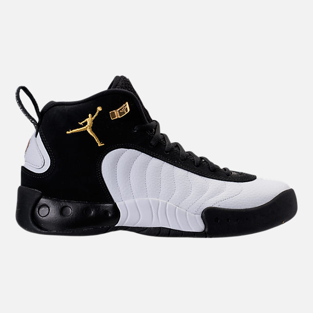 Right view of Men's Air Jordan Jumpman Pro Basketball Shoes in Black/Metallic Gold/White