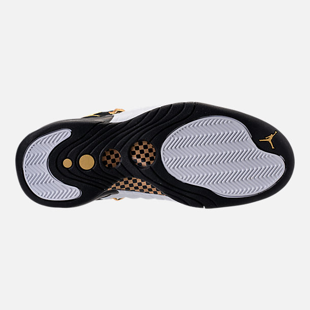 Bottom view of Men's Air Jordan Jumpman Pro Basketball Shoes in Black/Metallic Gold/White