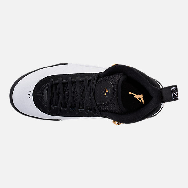 Top view of Men's Air Jordan Jumpman Pro Basketball Shoes in Black/Metallic Gold/White