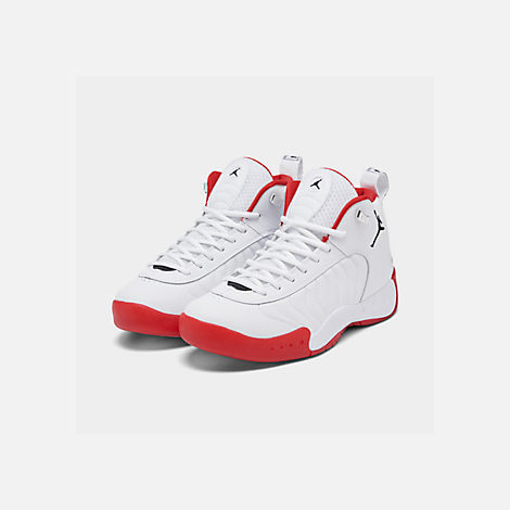 ea36c24ebc41 Three Quarter view of Men s Air Jordan Jumpman Pro Basketball Shoes in  White Black