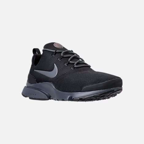 Three Quarter view of Men's Nike Presto Fly Casual Shoes in Black/Anthracite