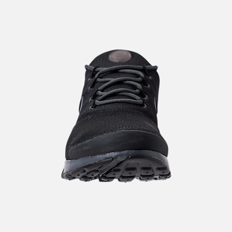 Front view of Men's Nike Presto Fly Casual Shoes in Black/Anthracite