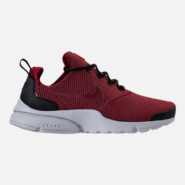 Right view of Men's Nike Presto Fly Ultra SE Casual Shoes in Black/Team Red/Platinum