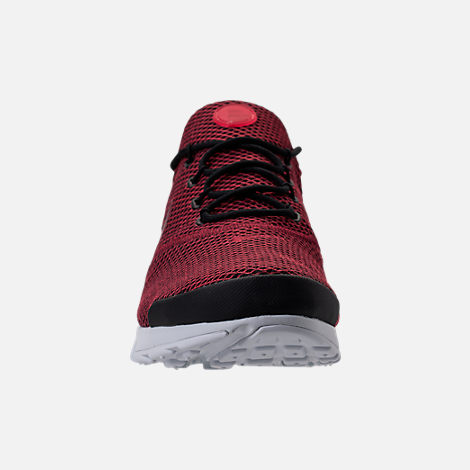 Front view of Men's Nike Presto Fly Ultra SE Casual Shoes in Black/Team Red/Platinum