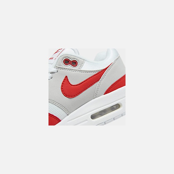 1bdb8b28dd Front view of Men's Nike Air Max 1 Anniversary Casual Shoes in White/University  Red
