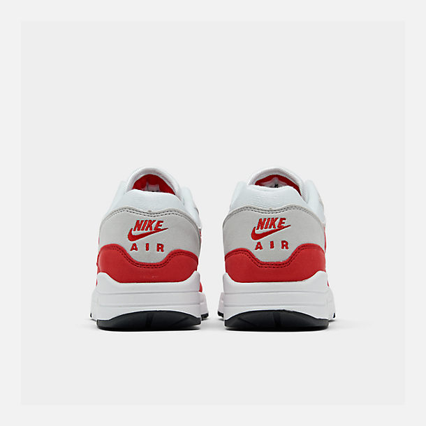 reputable site 5a43f 05935 Left view of Men s Nike Air Max 1 Anniversary Casual Shoes in White University  Red