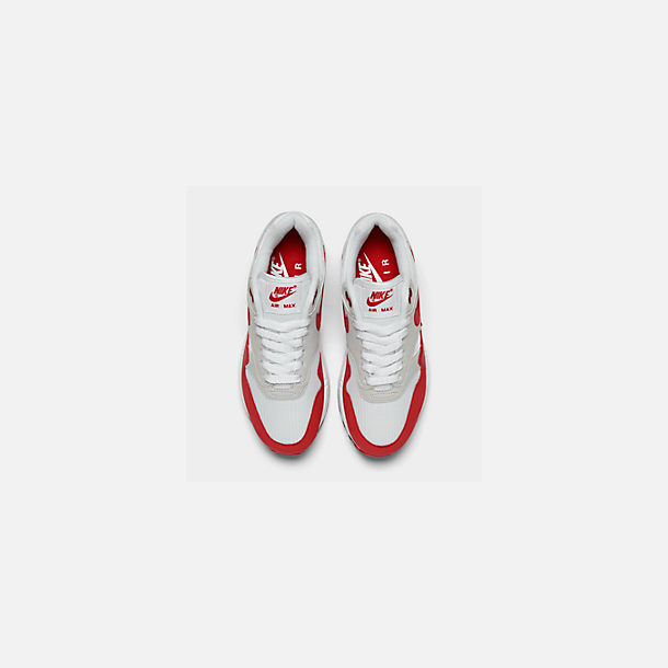 best service 66c27 c59db Back view of Men s Nike Air Max 1 Anniversary Casual Shoes in White University  Red