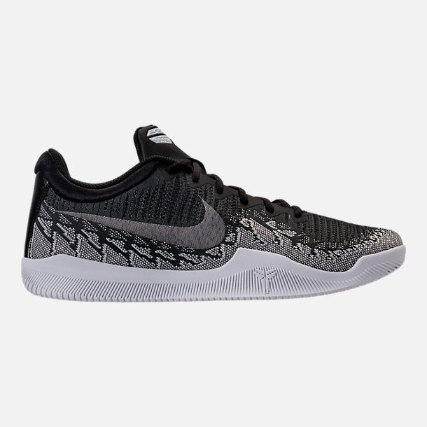Right view of Men's Nike Kobe Mamba Rage Basketball Shoes in Anthracite/White/Black/University Red