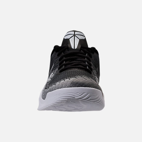 Front view of Men's Nike Kobe Mamba Rage Basketball Shoes in Anthracite/White/Black/University Red