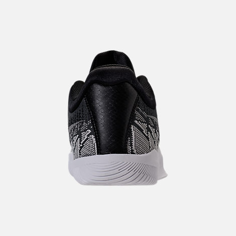 Back view of Men's Nike Kobe Mamba Rage Basketball Shoes in Anthracite/White/Black/University Red