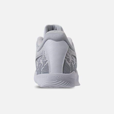 Back view of Men's Nike Kobe Mamba Rage Basketball Shoes in White/Grey