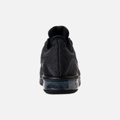 Back view of Women's Nike Air Max Sequent 3 Running Shoes in Black/Anthracite