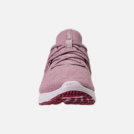 Front view of Women's Nike Air Max Sequent 3 Running Shoes in Elemental Rose/Barely Rose/Vintage