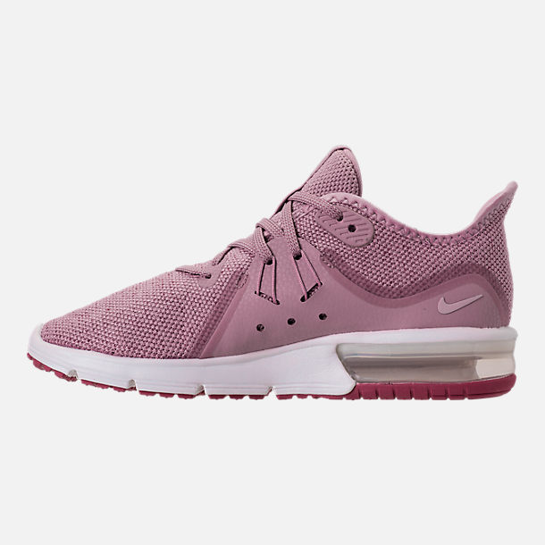Left view of Women's Nike Air Max Sequent 3 Running Shoes in Elemental Rose/Barely Rose/Vintage