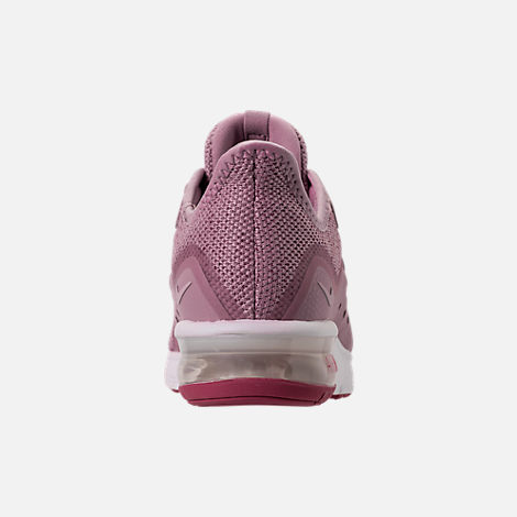 Back view of Women's Nike Air Max Sequent 3 Running Shoes in Elemental Rose/Barely Rose/Vintage