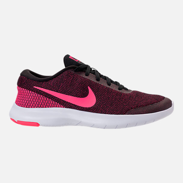Right view of Women s Nike Flex Experience RN 7 Running Shoes in  Black Racer Pink 2af73b11d4