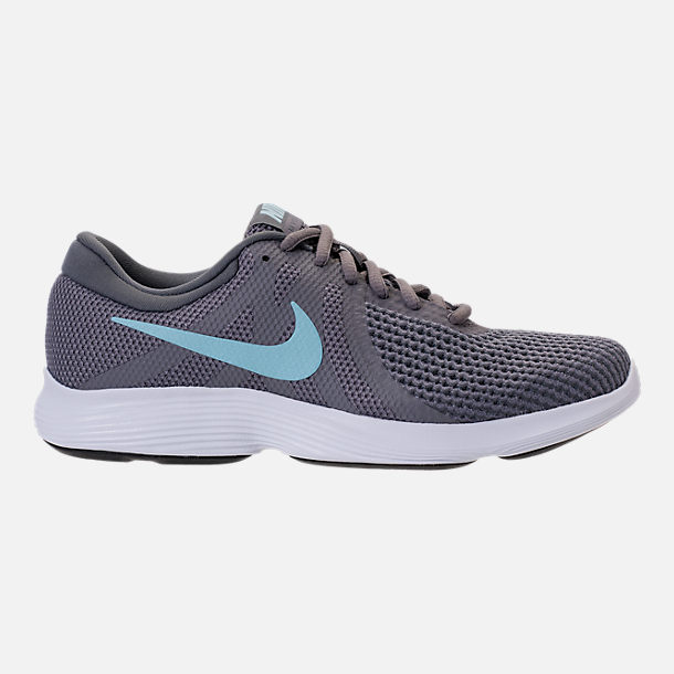 Right view of Women's Nike Revolution 4 Running Shoes in Gunsmooke/Ocean Bliss/Dark Grey