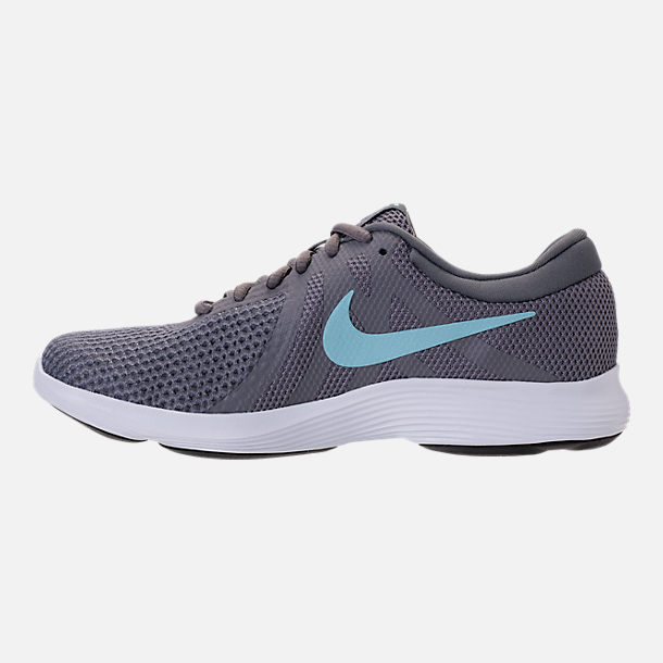 Left view of Women's Nike Revolution 4 Running Shoes in Gunsmooke/Ocean Bliss/Dark Grey