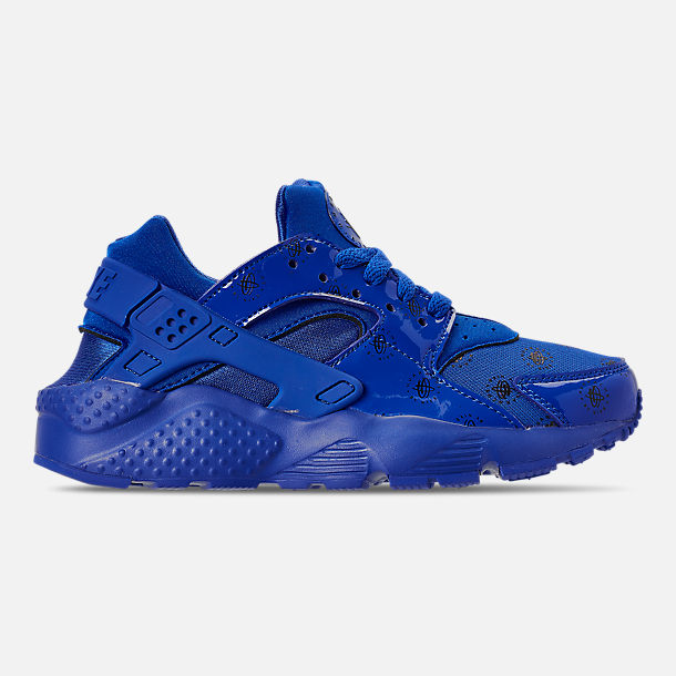Right view of Boys' Big Kids' Nike Air Huarache Run SE Casual Shoes in Royal Blue/Royal Blue