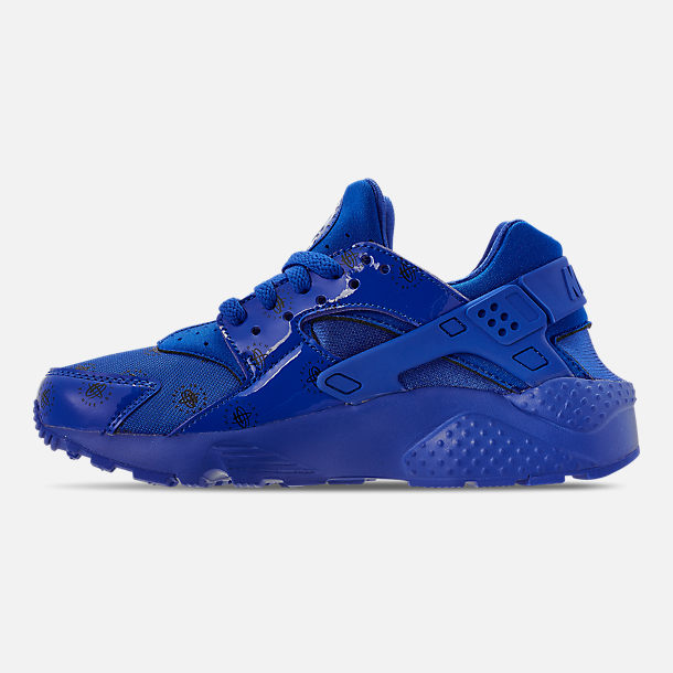 Left view of Boys' Big Kids' Nike Air Huarache Run SE Casual Shoes in Royal Blue/Royal Blue