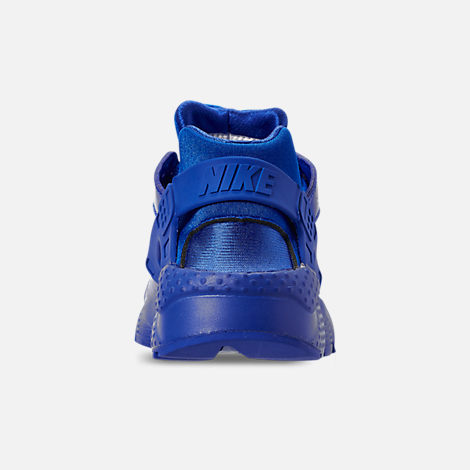 Back view of Boys' Big Kids' Nike Air Huarache Run SE Casual Shoes in Royal Blue/Royal Blue