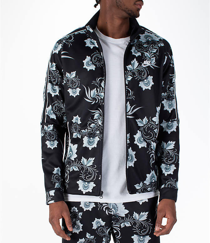 Front view of Men's Nike Sportswear Floral N98 Track Jacket