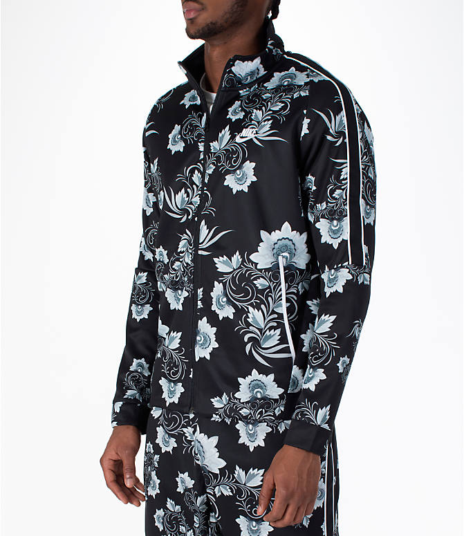Front Three Quarter view of Men's Nike Sportswear Floral N98 Track Jacket
