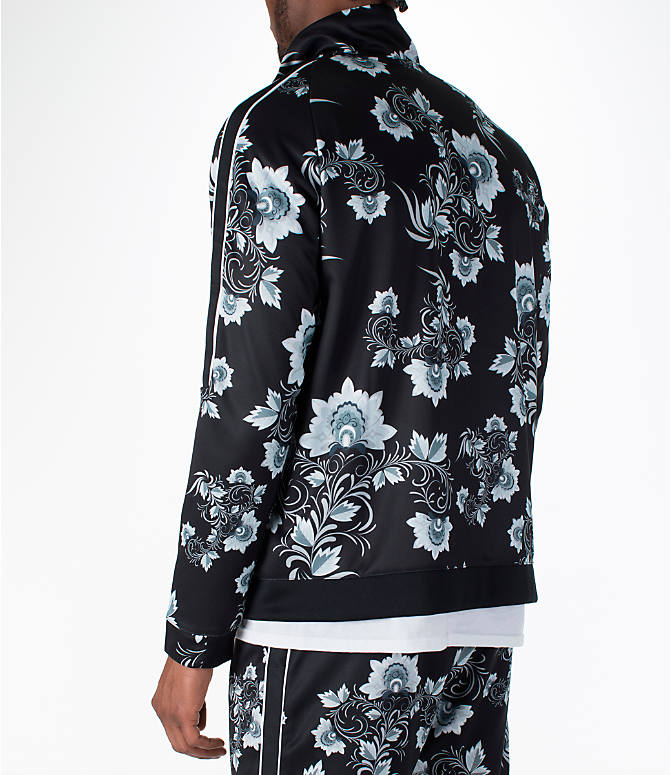 Back Left view of Men's Nike Sportswear Floral N98 Track Jacket