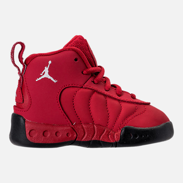 Right view of Kids' Toddler Jordan Jumpman Pro Basketball Shoes in Gym Red /White