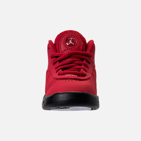 Front view of Kids' Toddler Jordan Jumpman Pro Basketball Shoes in Gym Red /White
