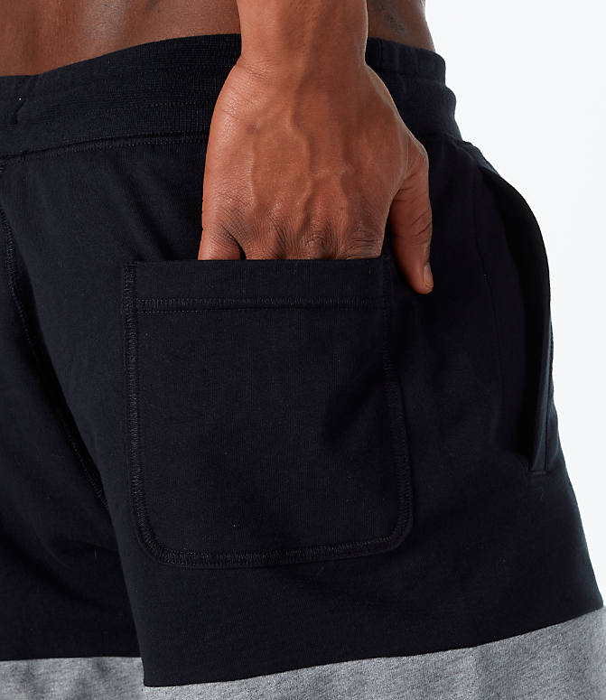 Detail 1 view of Men's Nike Sportswear Franchise Shorts in Black/Carbon Heather