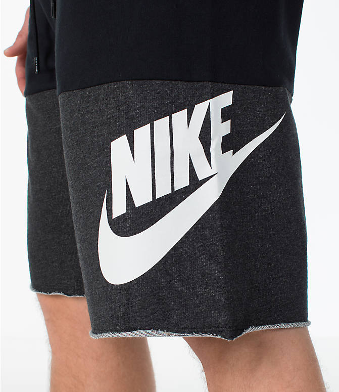 Detail 1 view of Men's Nike Sportswear Franchise Shorts in Black/White