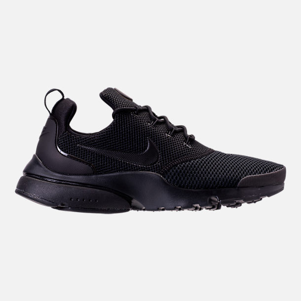 Right view of Womens Nike Presto Fly Casual Shoes in BlackBlackBlack
