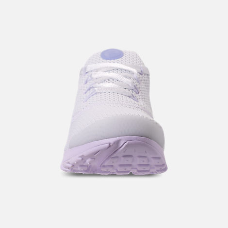 Front view of Women's Nike Presto Fly Casual Shoes in White/Barely Grape/Twilight Pulse