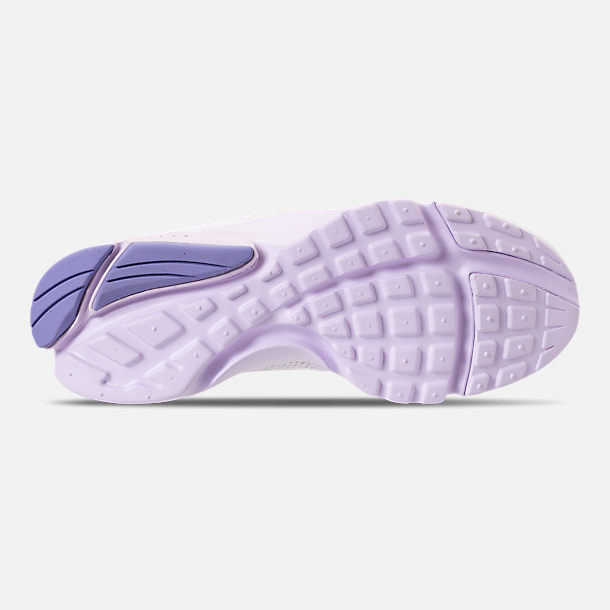 Bottom view of Women's Nike Presto Fly Casual Shoes in White/Barely Grape/Twilight Pulse