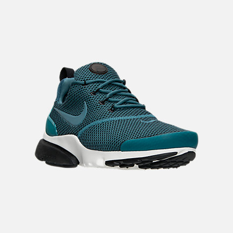 Three Quarter view of Women's Nike Presto Ultra SE Casual Shoes in Iced Jade/Summit White/Blue
