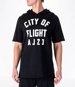 "Men's Air Jordan ""City of Flight"" Short-Sleeve Hooded Shirt"