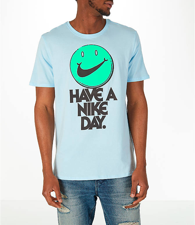 Front view of Men's Nike Have a Nike Day T-Shirt in Blue