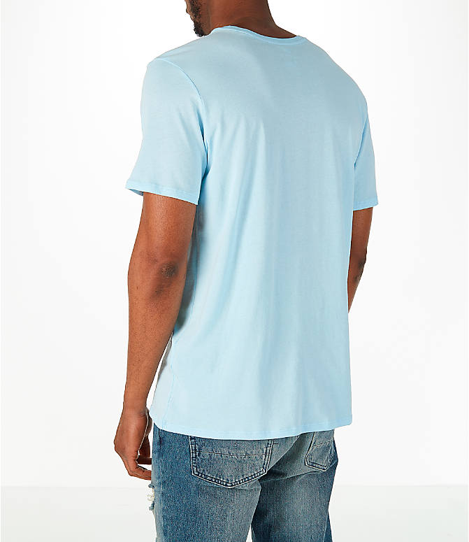 Back Left view of Men's Nike Have a Nike Day T-Shirt in Blue