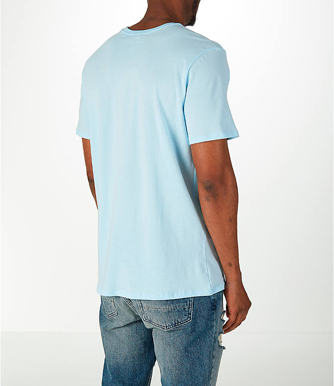 Back Right view of Men's Nike Have a Nike Day T-Shirt in Blue