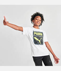 Boys' Puma MCS Box Logo T-Shirt