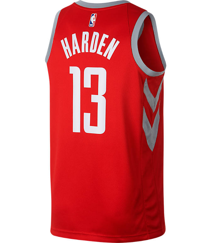Front view of Men's Nike Houston Rockets NBA James Harden City Edition Connected Jersey in Red